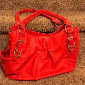 Handbags - Coral Handbag Braided Shoulder Handles